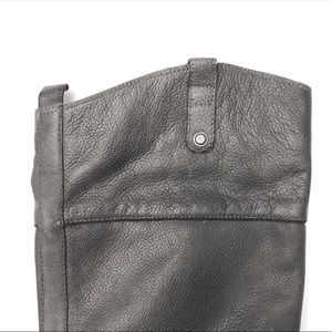 SAM EDELMAN Gray Cowboy Style Tall Boot, Size 8.5